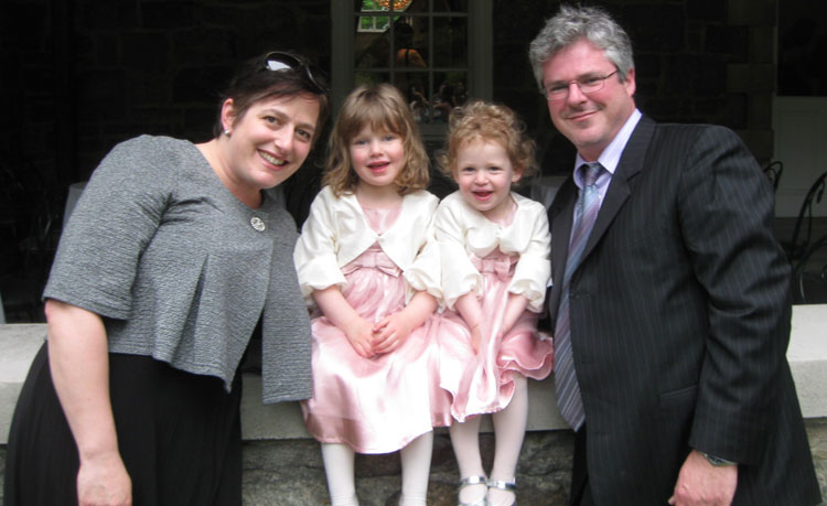 Pamela Stein, Mia, Eve and Jonathan Blumberg, May 2010